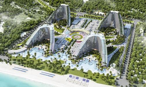 Thi công trần vách thạch cao Tổ hợp Condotel The Arena Cam Ranh